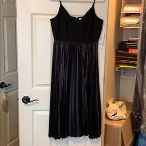 Black spaghetti straps HALSTON dress